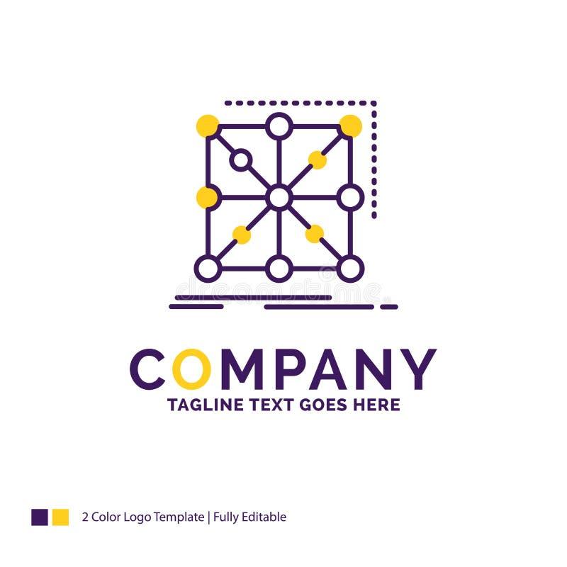 Nombre de compañía Logo Design For Data, marco, App, racimo, comp ilustración del vector