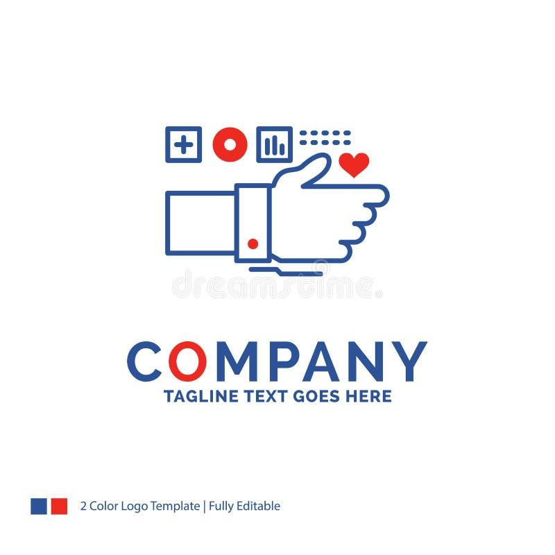 Nombre de compañía Logo Design For Monitoring, tecnología, aptitud, él stock de ilustración