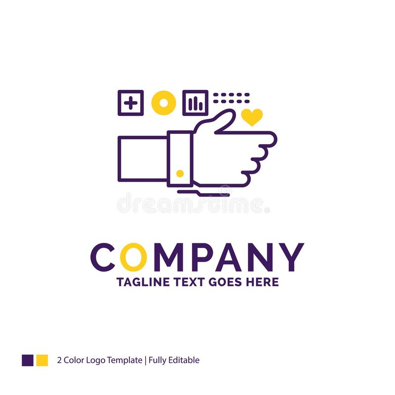 Nombre de compañía Logo Design For Monitoring, tecnología, aptitud, él ilustración del vector