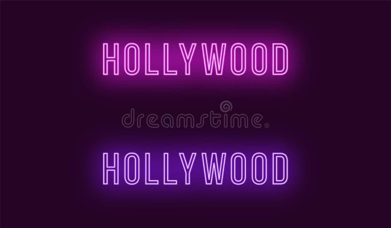 Nombre de neón del distrito de Hollywood en Los Angeles libre illustration