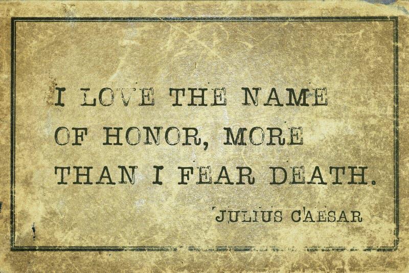 Nombre del honor César imagenes de archivo