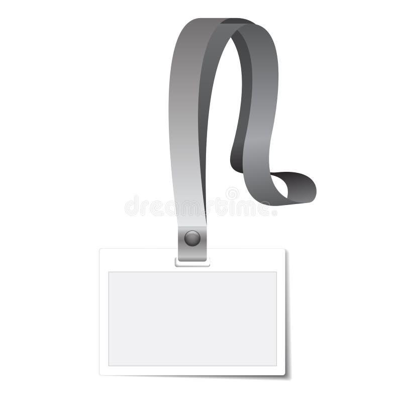 Nombre del tenedor o de tarjeta de la identificación libre illustration
