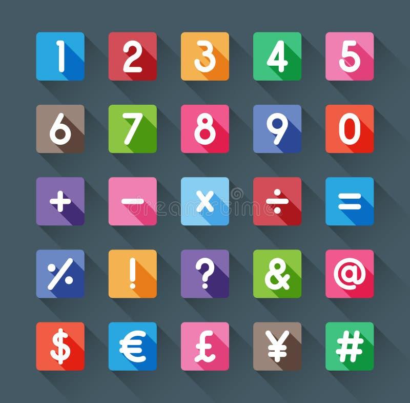 Nombre et symbole illustration stock