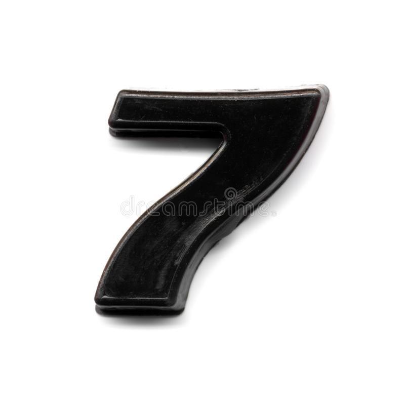 Nombre magnétique en plastique 7 photographie stock
