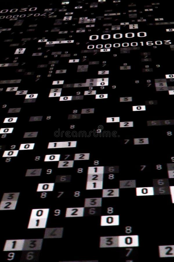 nombre mathématique de calcul images stock
