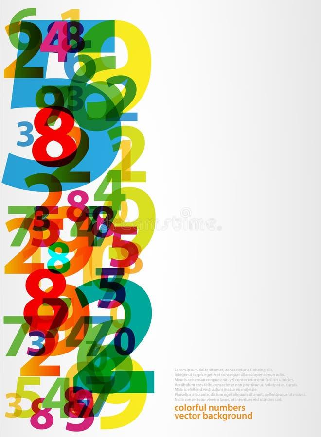 Nombres abstraits de lettres illustration stock