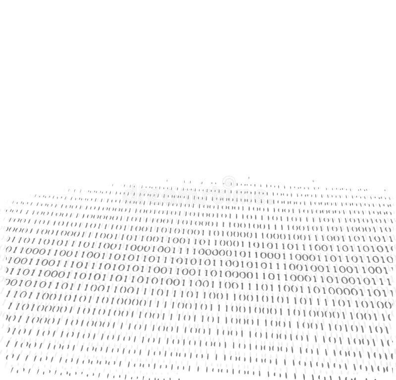 Nombres binaire se fanant dans le fond. illustration stock