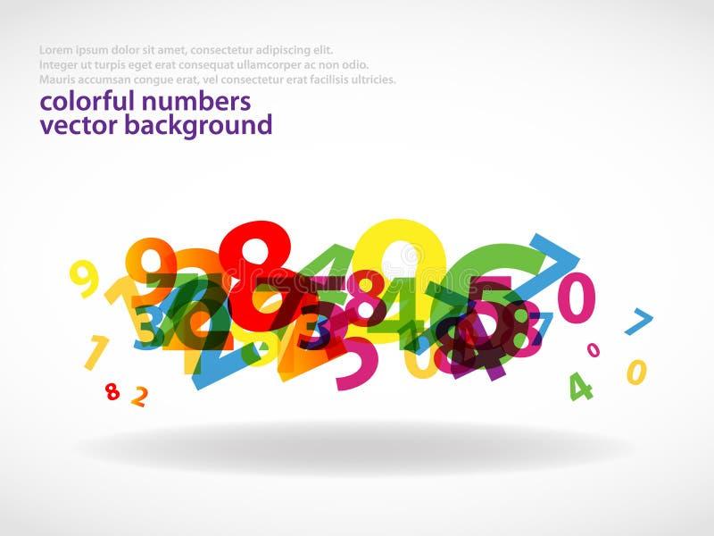 Nombres colorés background_2 illustration libre de droits