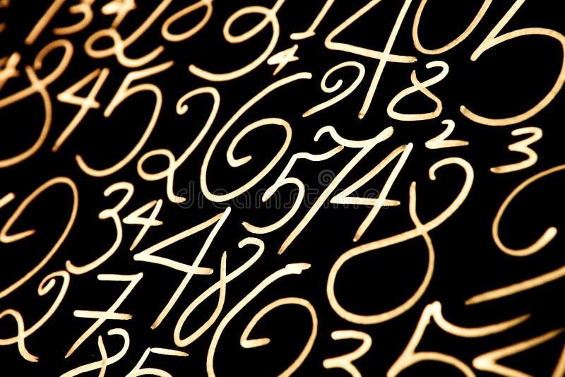 Nombres color?s r?gl?s abr?gez le fond Les nombres remettent ?crit images libres de droits
