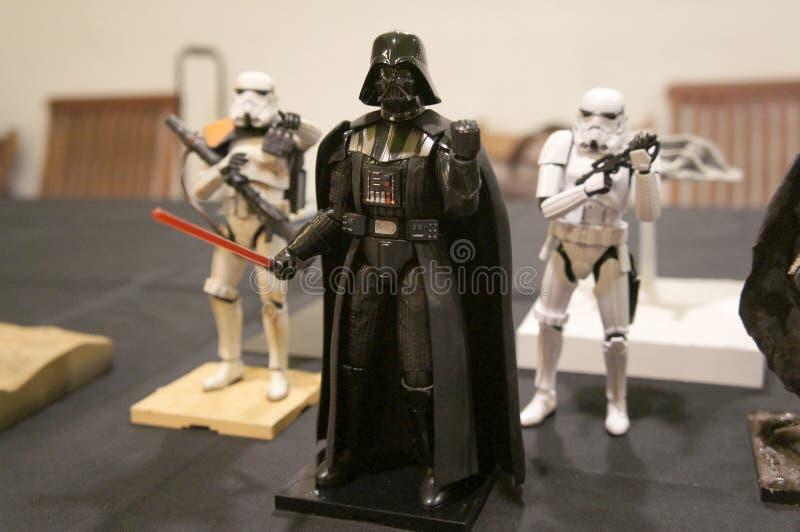 Nombres d'actions de caractère fictif de Darth Vader des films de concession de Star Wars images stock