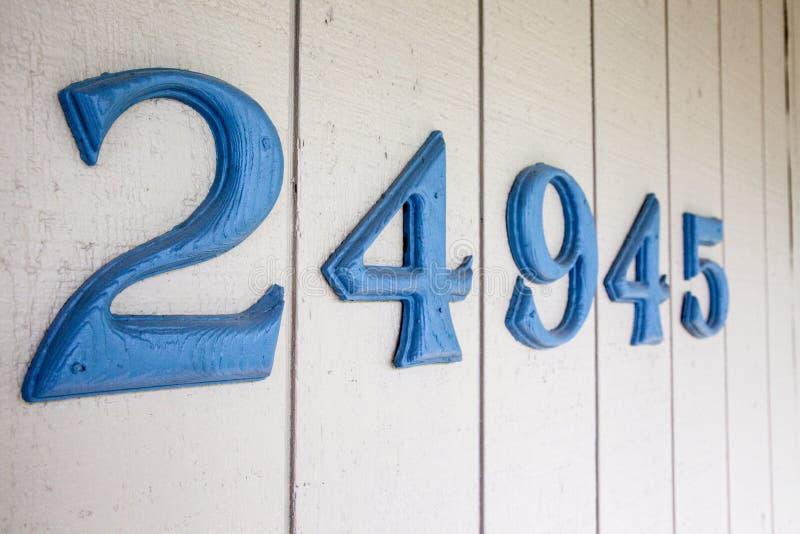 Nombres d'adresse de Chambre images stock