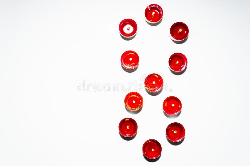 Nombres faits de bougies color?es photo stock