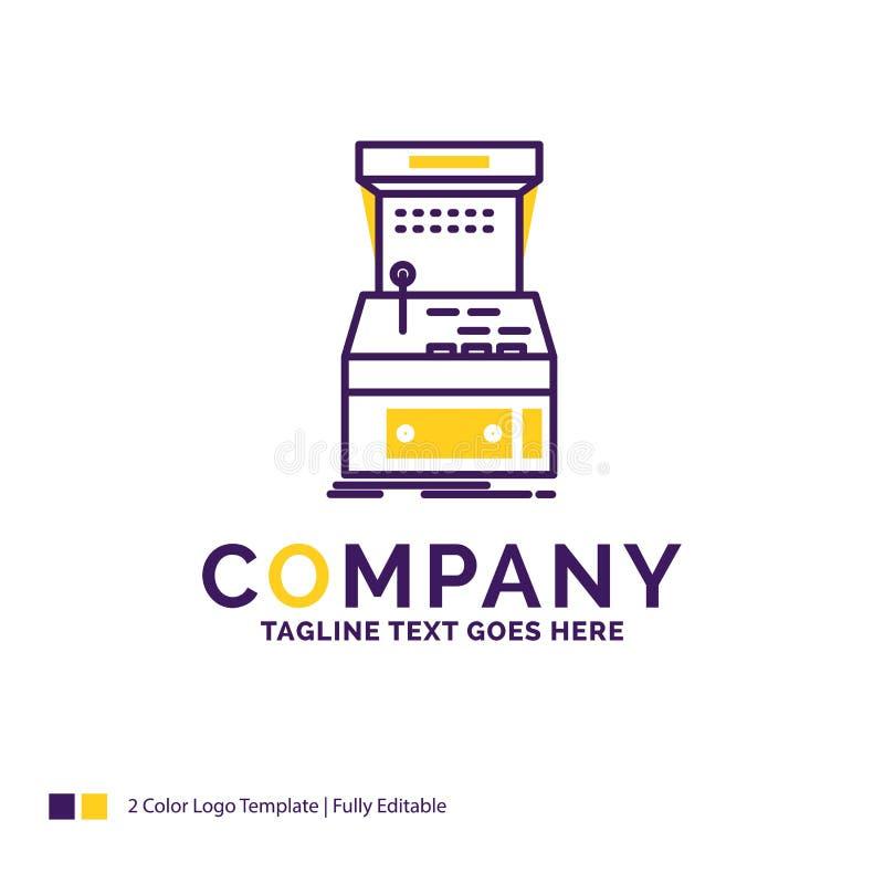 Nome da empresa Logo Design For Arcade, console, jogo, máquina, pla ilustração royalty free