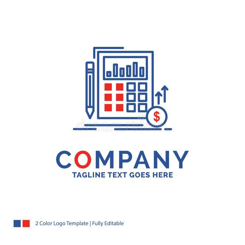 Nome da empresa Logo Design For Calculation, dados, financeiros, inves ilustração do vetor