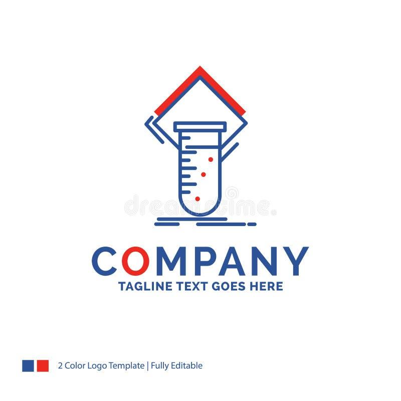 Nome da empresa Logo Design For Chemistry, laboratório, estudo, teste, testin ilustração do vetor