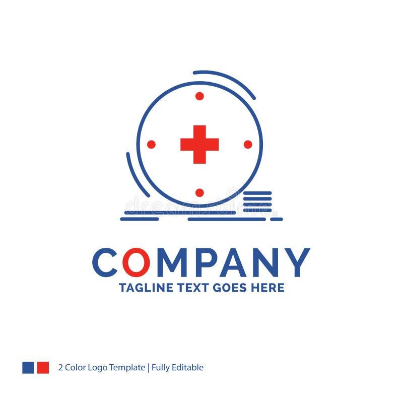 Nome da empresa Logo Design For Clinical, digital, saúde, healthca ilustração stock