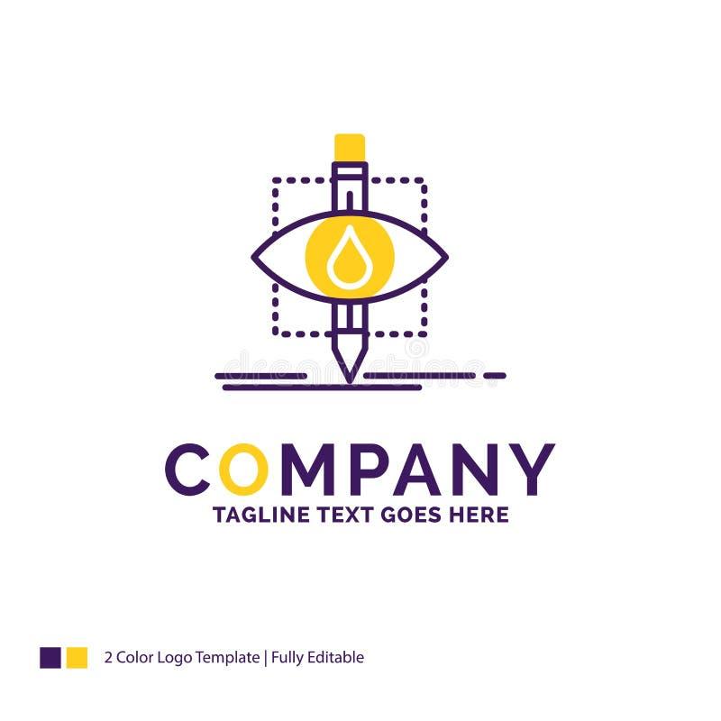 Nome da empresa Logo Design For Ecology, monitoração, poluição, res ilustração royalty free