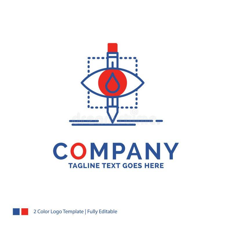 Nome da empresa Logo Design For Ecology, monitoração, poluição, res ilustração do vetor