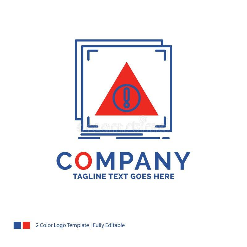 Nome da empresa Logo Design For Error, aplicação, negada, servidor ilustração stock