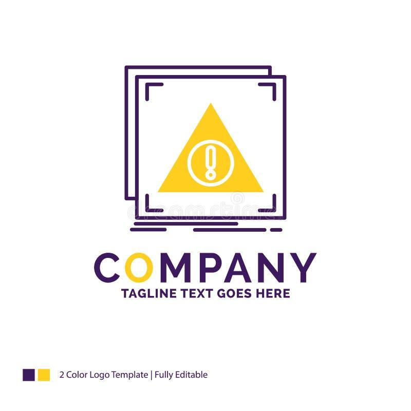 Nome da empresa Logo Design For Error, aplicação, negada, servidor ilustração royalty free