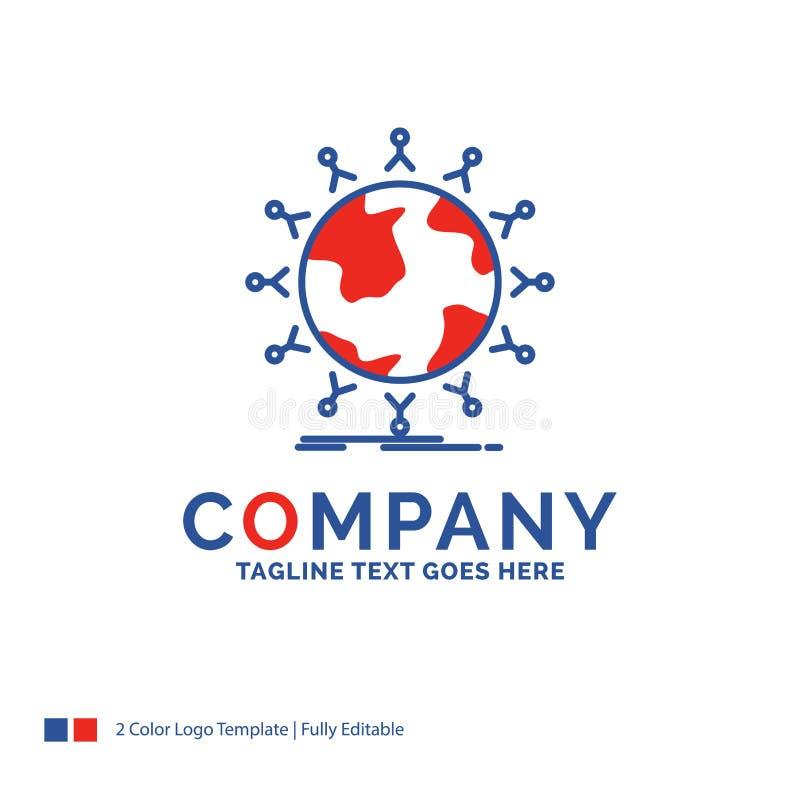 Nome da empresa Logo Design For global, estudante, rede, globo, ki ilustração royalty free