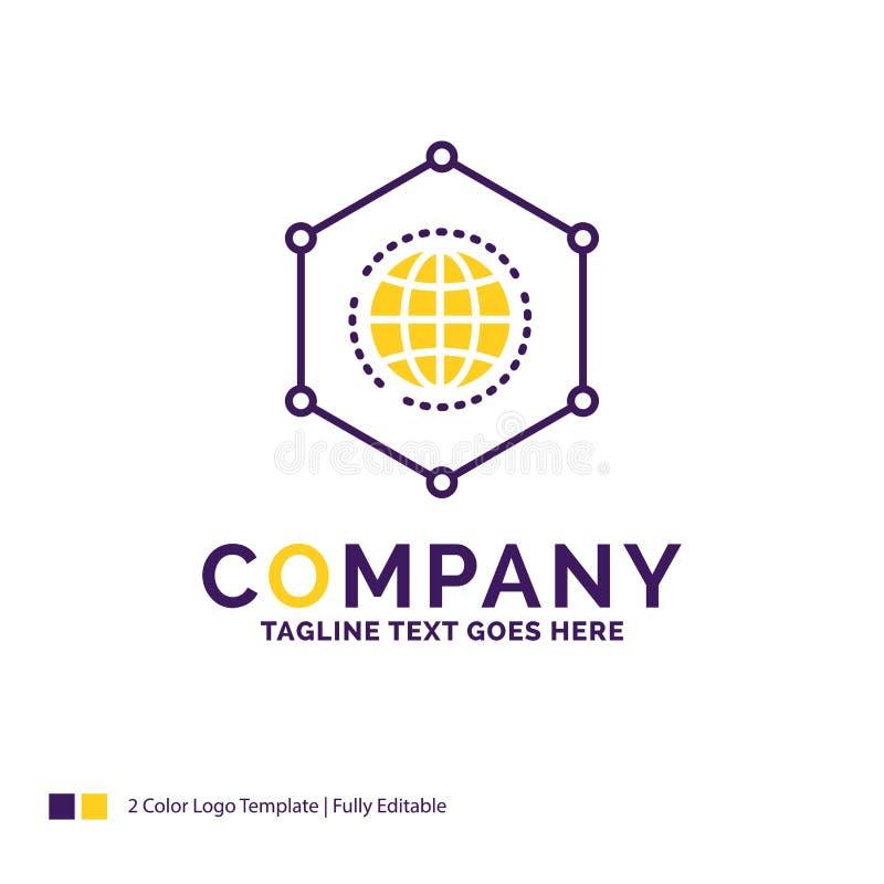 Nome da empresa Logo Design For Network, global, dados, conexão ilustração royalty free