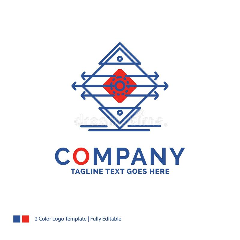 Nome da empresa Logo Design For Traffic, pista, estrada, sinal, segurança ilustração stock