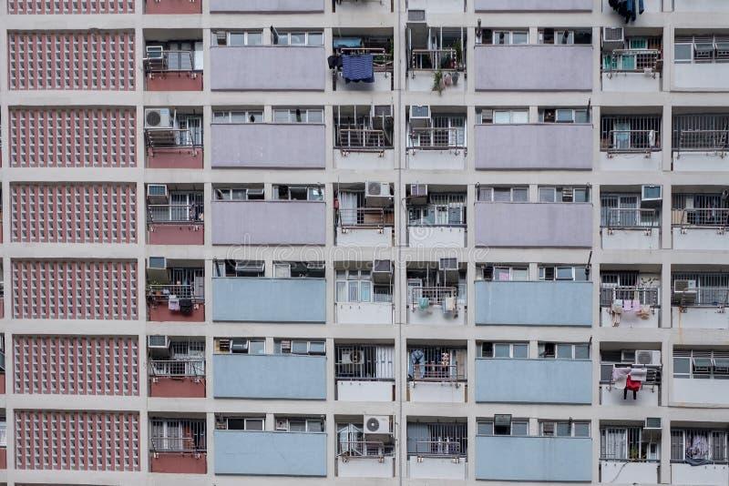 Nome di costruzione Hung Estate dell'arcobaleno a Hong Kong fotografia stock