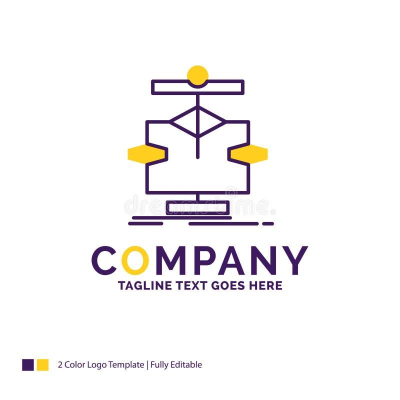 Nome di società Logo Design For Algorithm, grafico, dati, diagramma, Florida illustrazione di stock