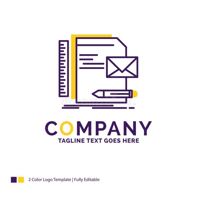 Nome di società Logo Design For Brand, società, identità, lettera, p illustrazione vettoriale