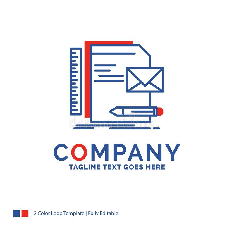 Nome di società Logo Design For Brand, società, identità, lettera, p illustrazione di stock