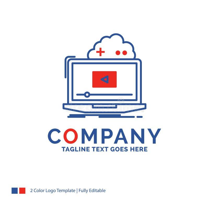 Nome di società Logo Design For Cloud, gioco, online, scorrente, vid illustrazione vettoriale