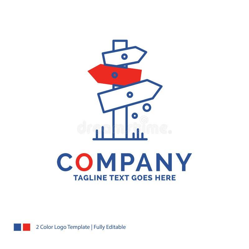 Nome di società Logo Design For Direction, bordo, accampantesi, segno, La illustrazione di stock