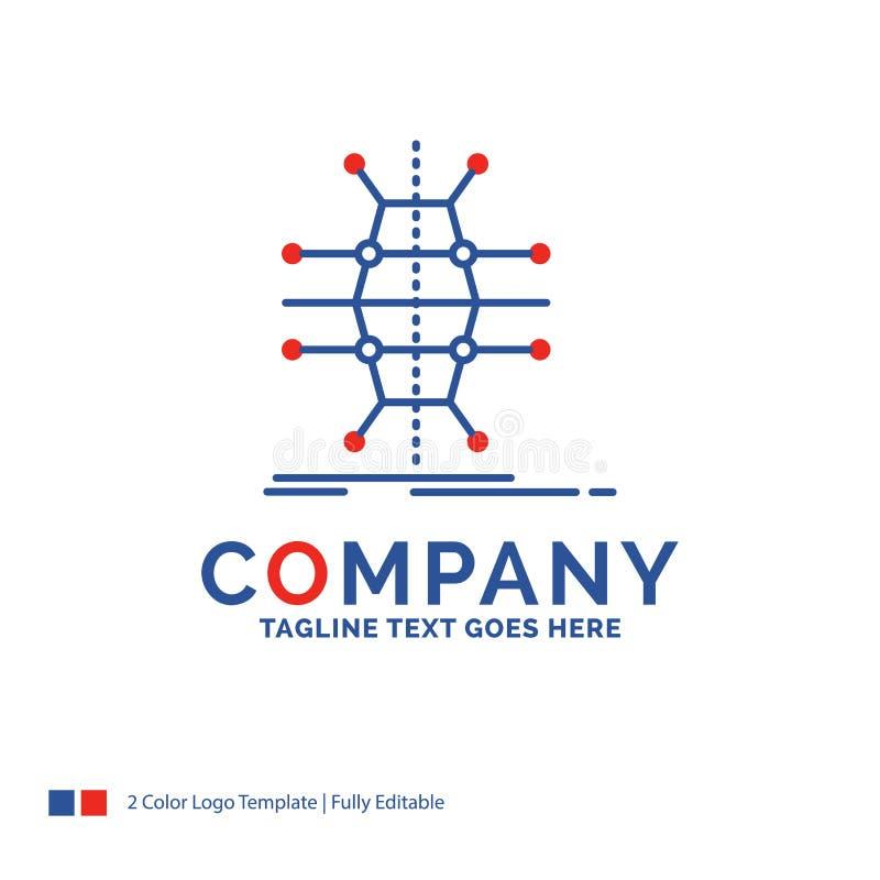 Nome di società Logo Design For Distribution, griglia, infrastruttura illustrazione di stock