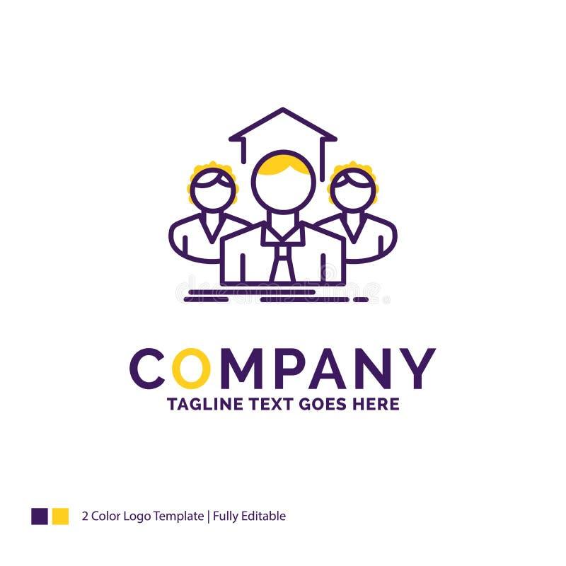 Nome di società Logo Design For Team, affare, lavoro di squadra, gruppo, me illustrazione di stock
