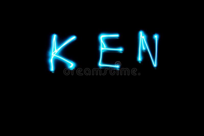 Nome di verniciatura leggero di KEN fotografia stock