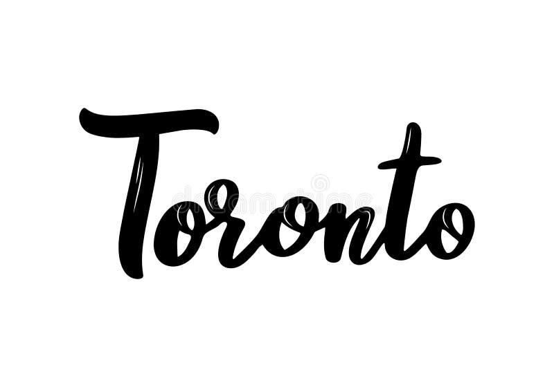Nome escrito à mão da caligrafia de Toronto da cidade dos E.U. ilustração do vetor