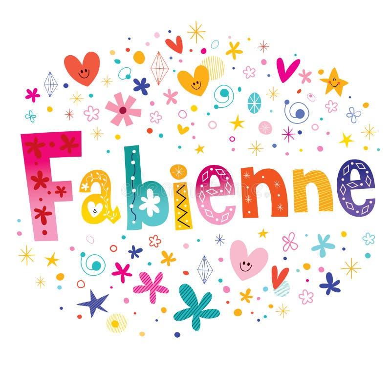 Nome feminino de Fabienne French ilustração stock