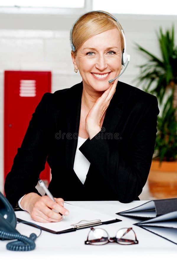 Nomeação de confirmação do secretário fêmea fotografia de stock royalty free