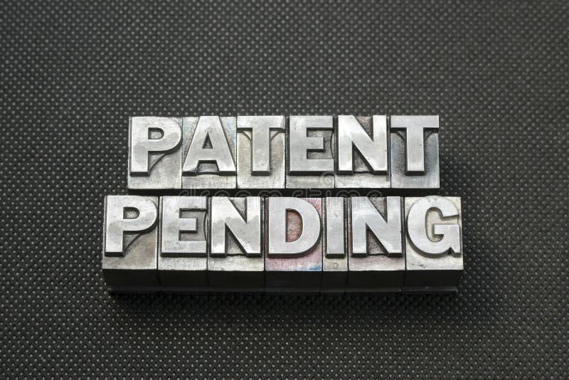 Nomenclature de brevet en instance images libres de droits