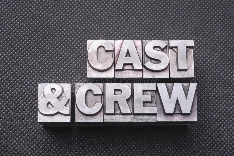 Nomenclature de Cast&crew photographie stock libre de droits