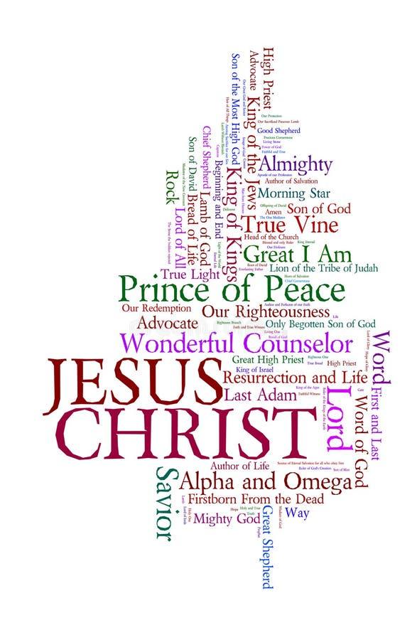 Nomes de Jesus ilustração stock