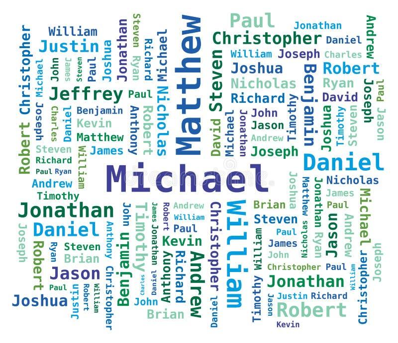 Nomi degli uomini della nube di parola illustrazione di stock