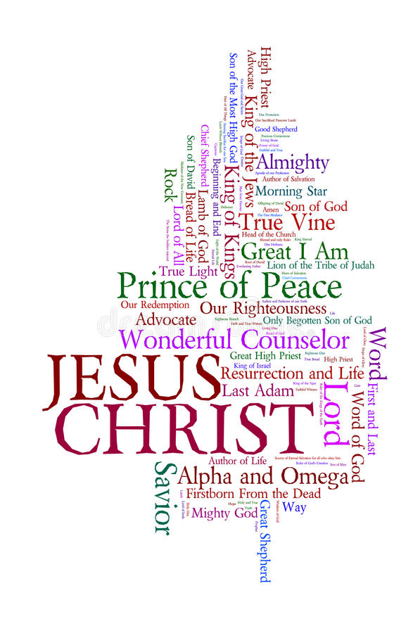 Nomi di Jesus immagine stock libera da diritti