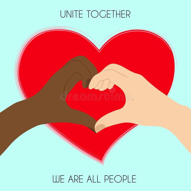 Non à l'affiche de racisme illustration libre de droits