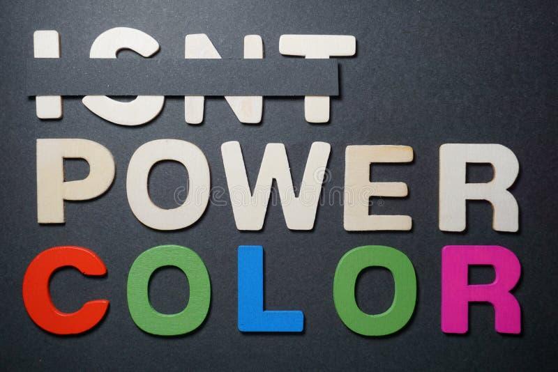 Non è il colore di potere fotografie stock libere da diritti