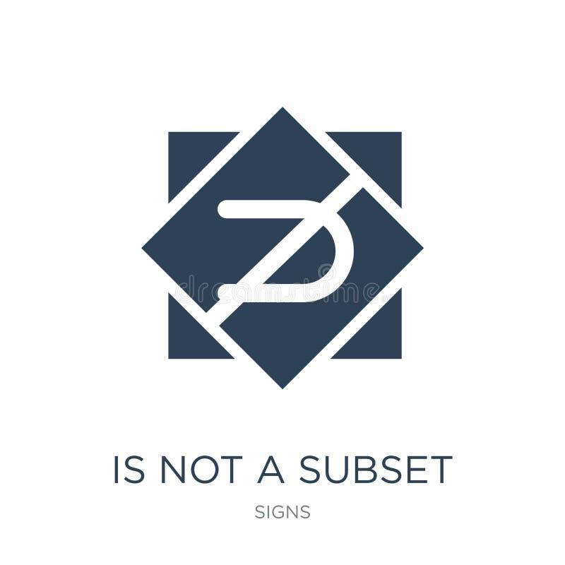 non è un'icona del sottoinsieme nello stile d'avanguardia di progettazione non è un'icona del sottoinsieme isolata su fondo bianc royalty illustrazione gratis