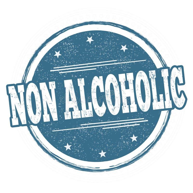 Non alkoholiczny znak lub znaczek ilustracja wektor