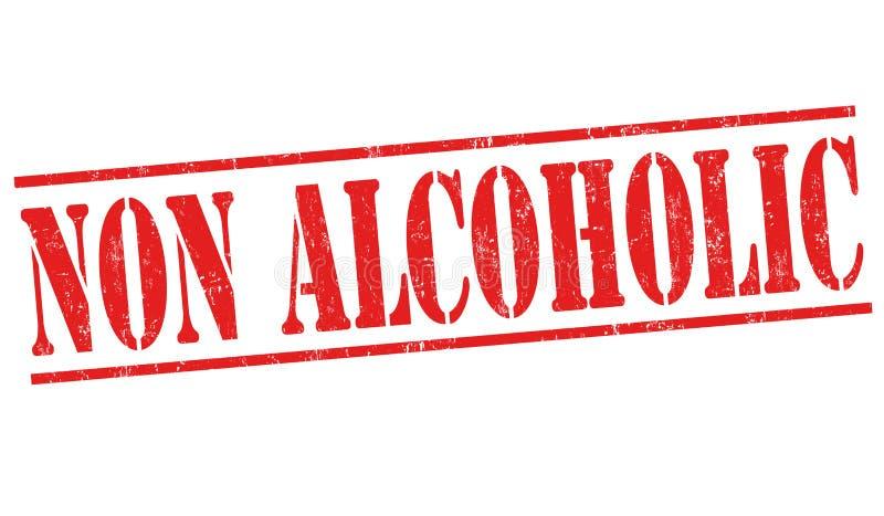 Non alkoholiserat tecken eller stämpel royaltyfri illustrationer