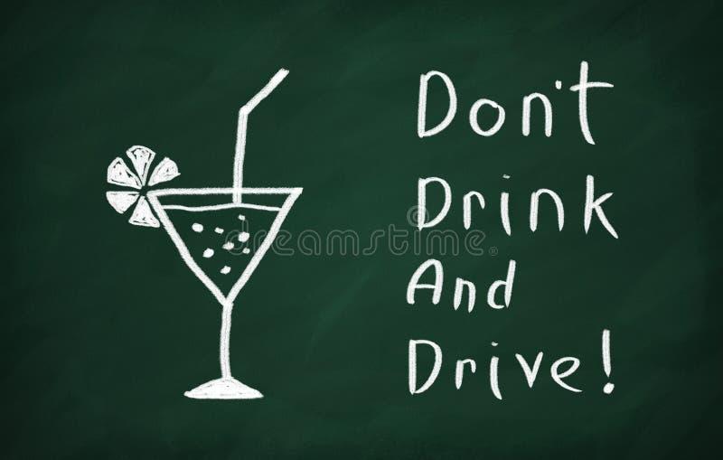 Non beva e non guidi! fotografie stock